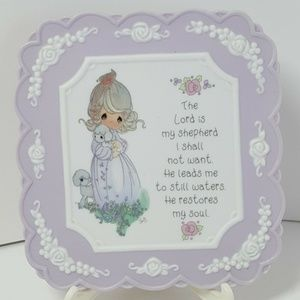 """Precious Moments Plaque """"Lord is My Shepherd"""" 1994"""